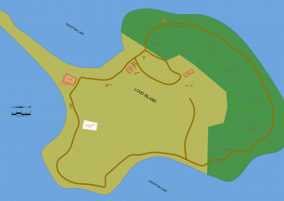 Phase 1 (Island with 7 of 12 lots shown)